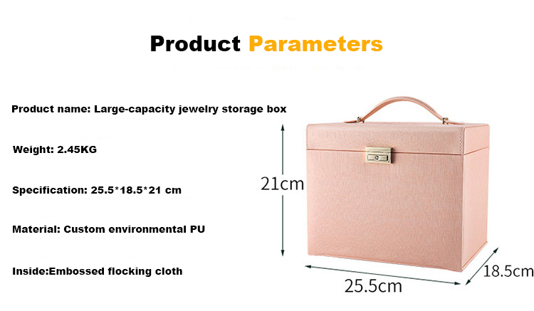 Luxury Christmas Jewellery Gifts Box With Gold Lock Beige Velvet Lining Pu Leather Jewelry Packaging Box