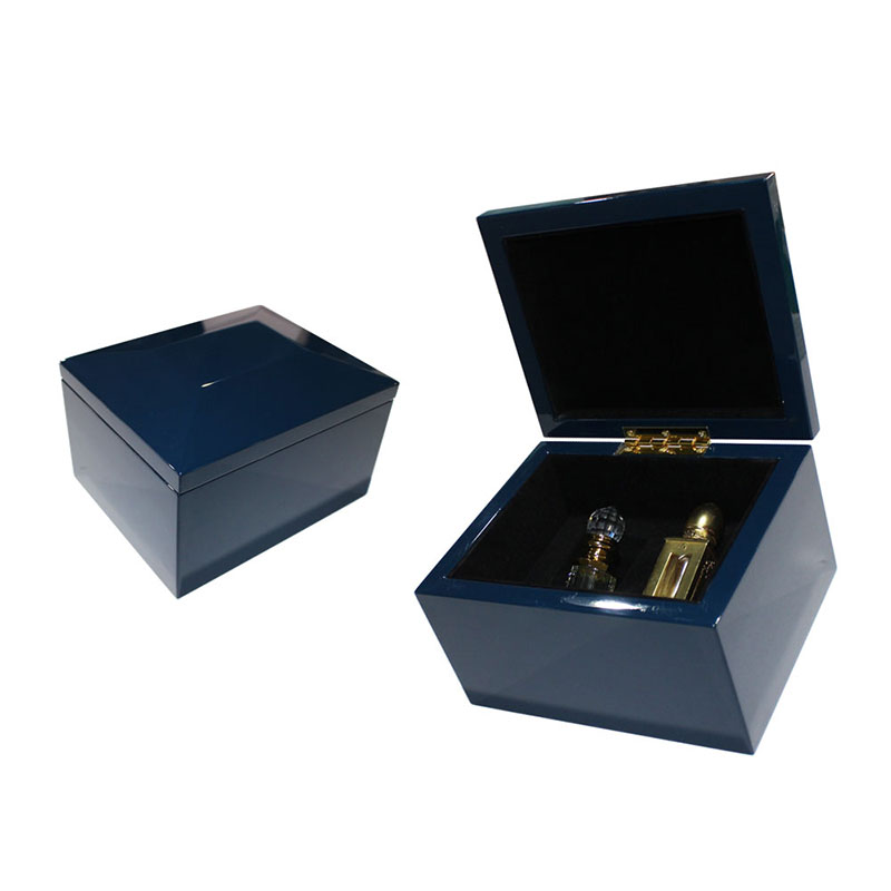 China Supplier Make Cool Blue Arabian Wooden Perfume Gift Box for Women