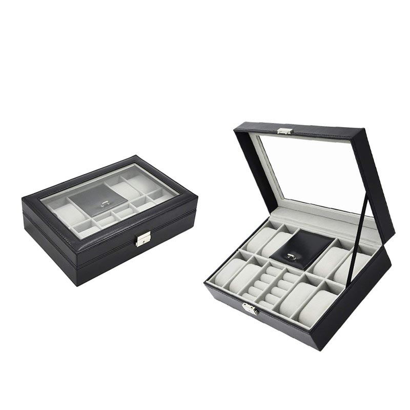 Custom wholesale high quality PU leather watch jewelry boxes