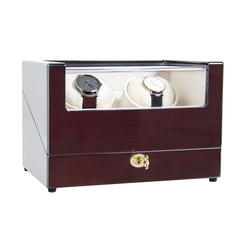 Japan Motor 2+0 Grids Piano Lacquer Dual Automatic Watch Winder