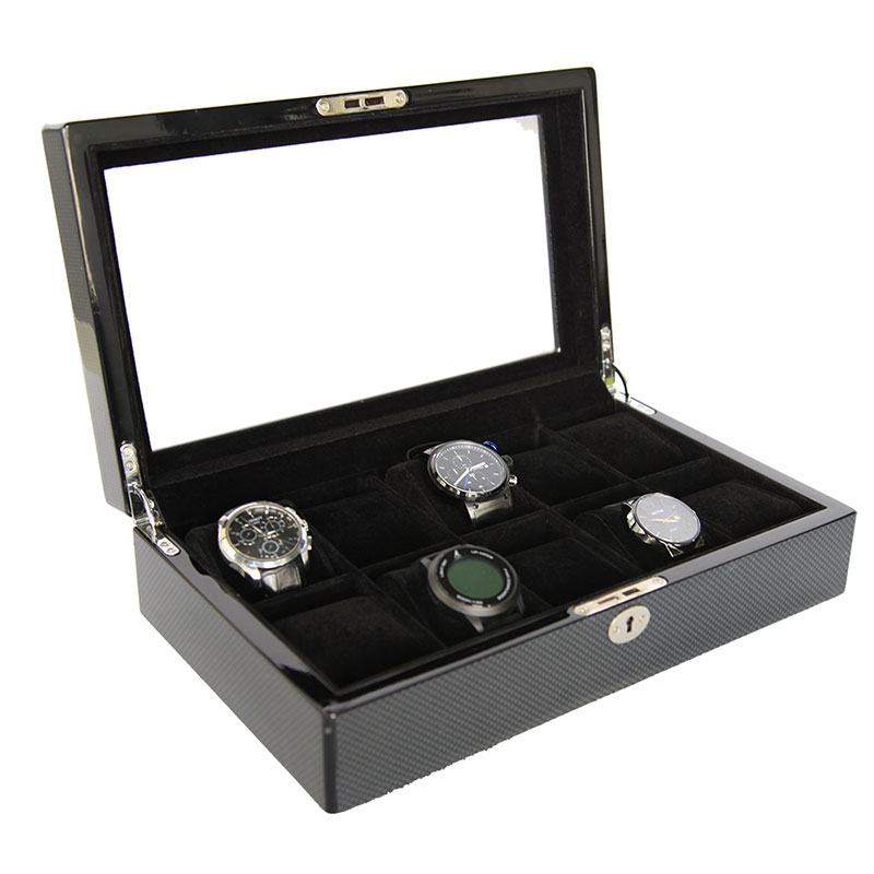 Black classical collection watch case storage display box