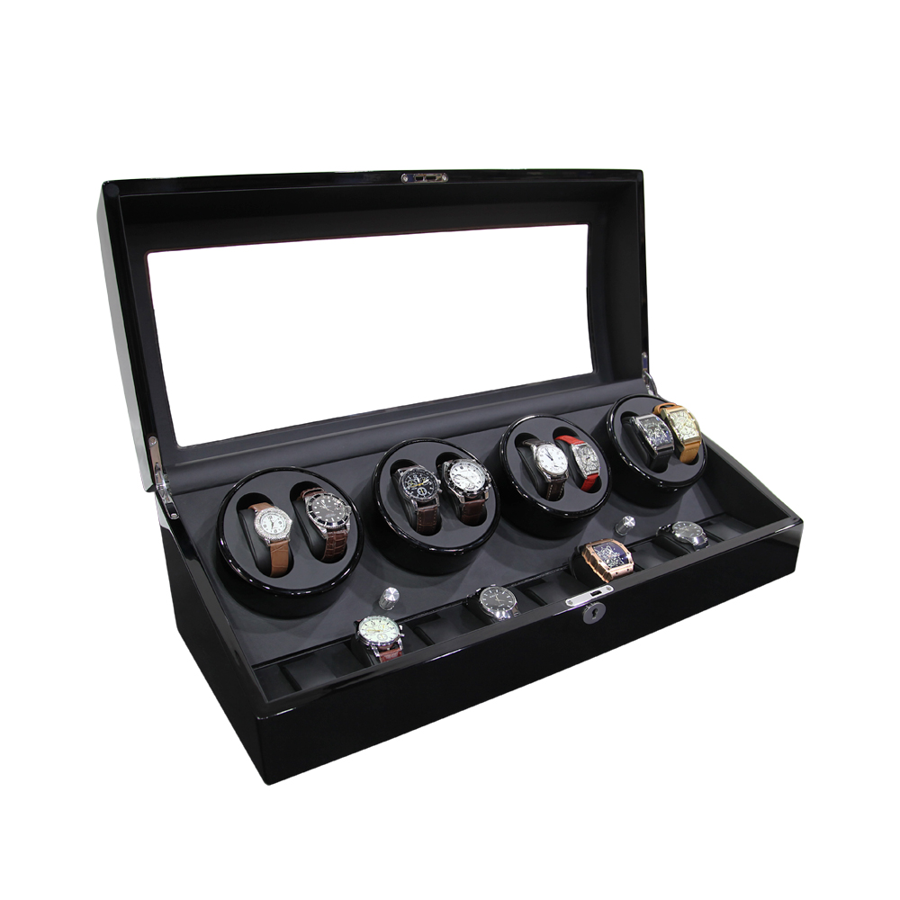 New Design High Gloss Paint Black Wooden Automatic Watch Winder