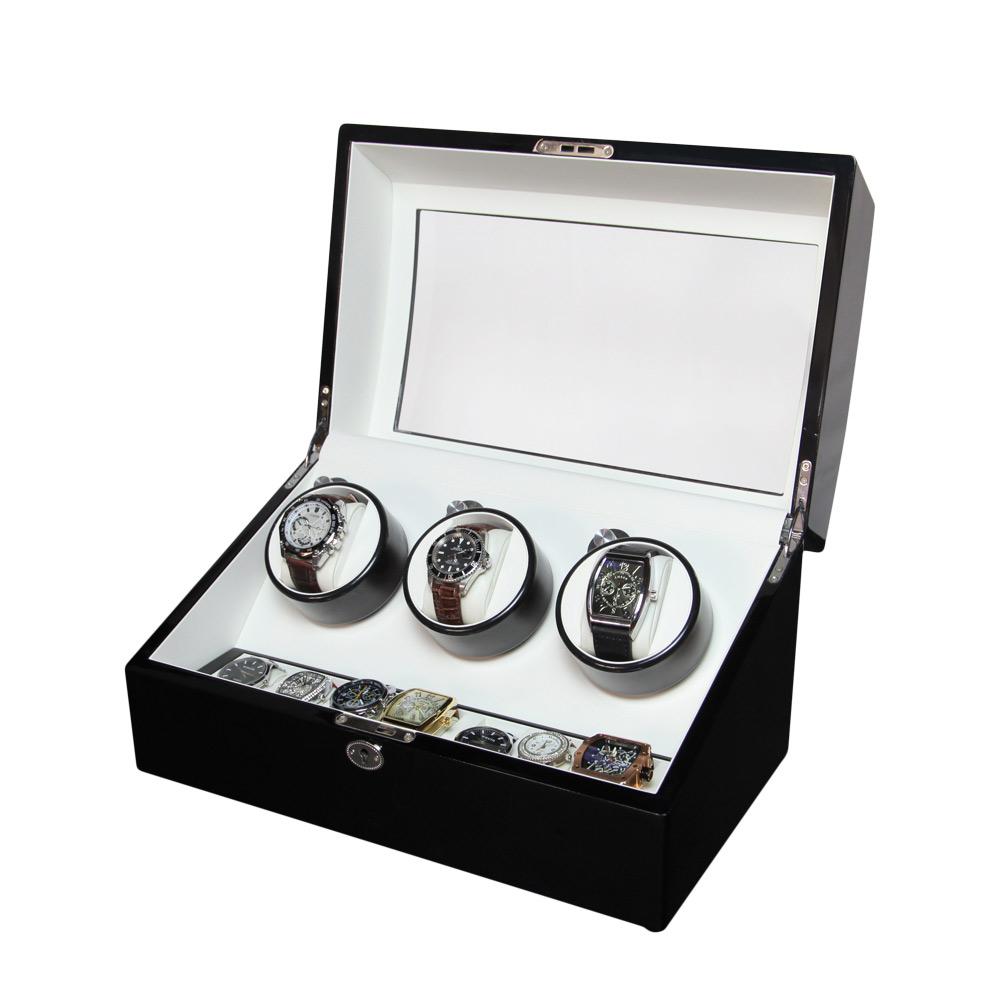 3+7 Automatic Wooden Mechanical Wrist Watch Winder Box