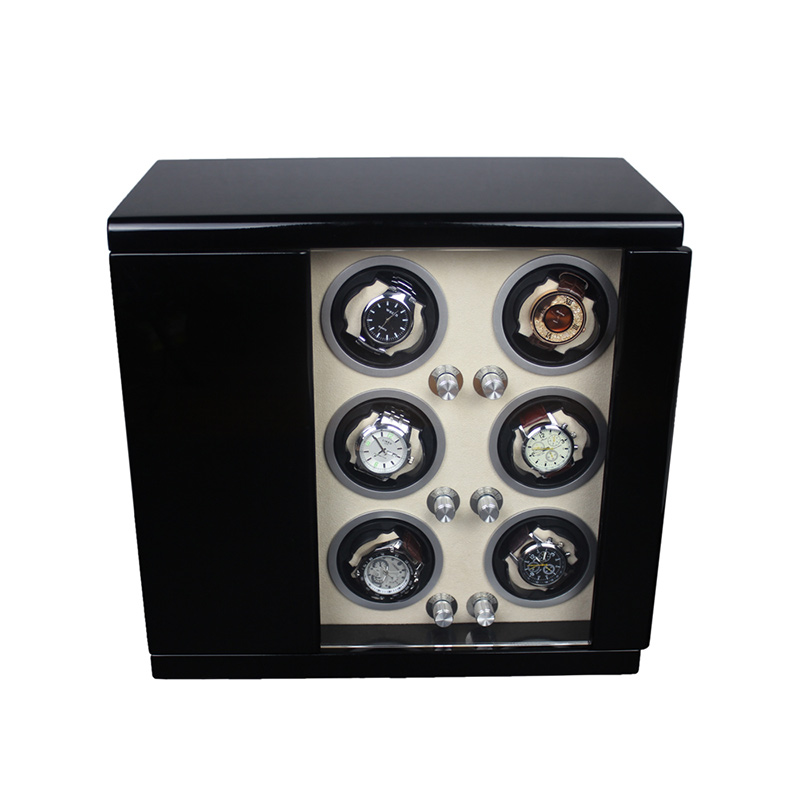 Pure black Piano Lacquer Wood Watch Winder Box