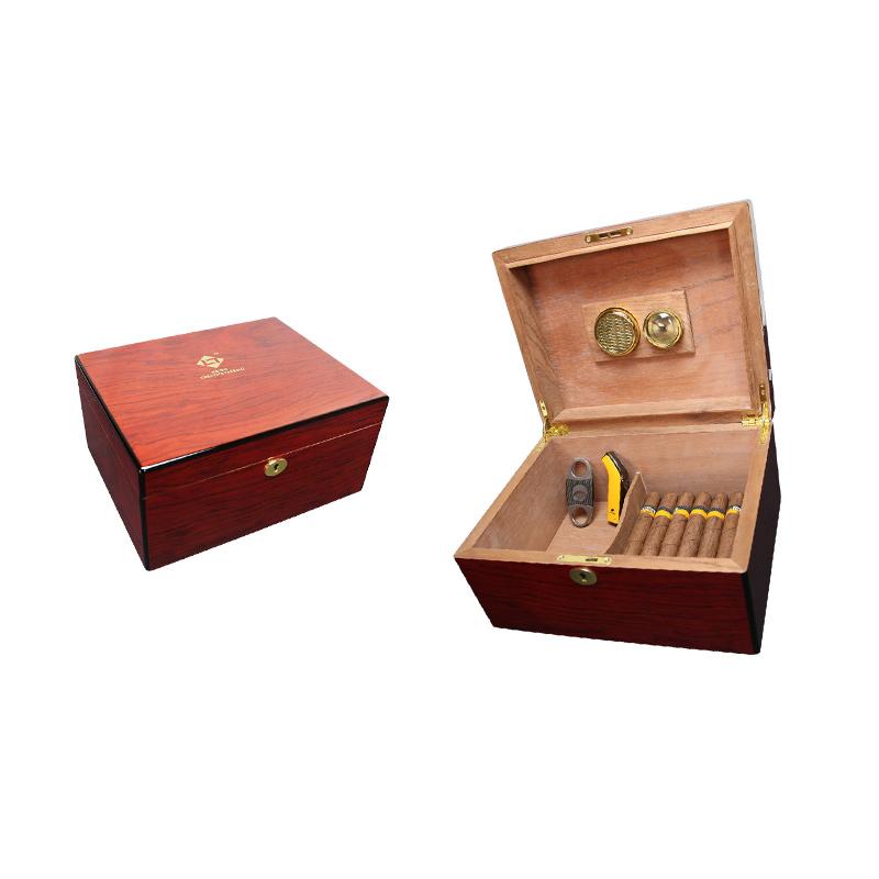 Hot Sale Wooden Cigarette Humidor, Making Wood Humidor, Locking Humidor