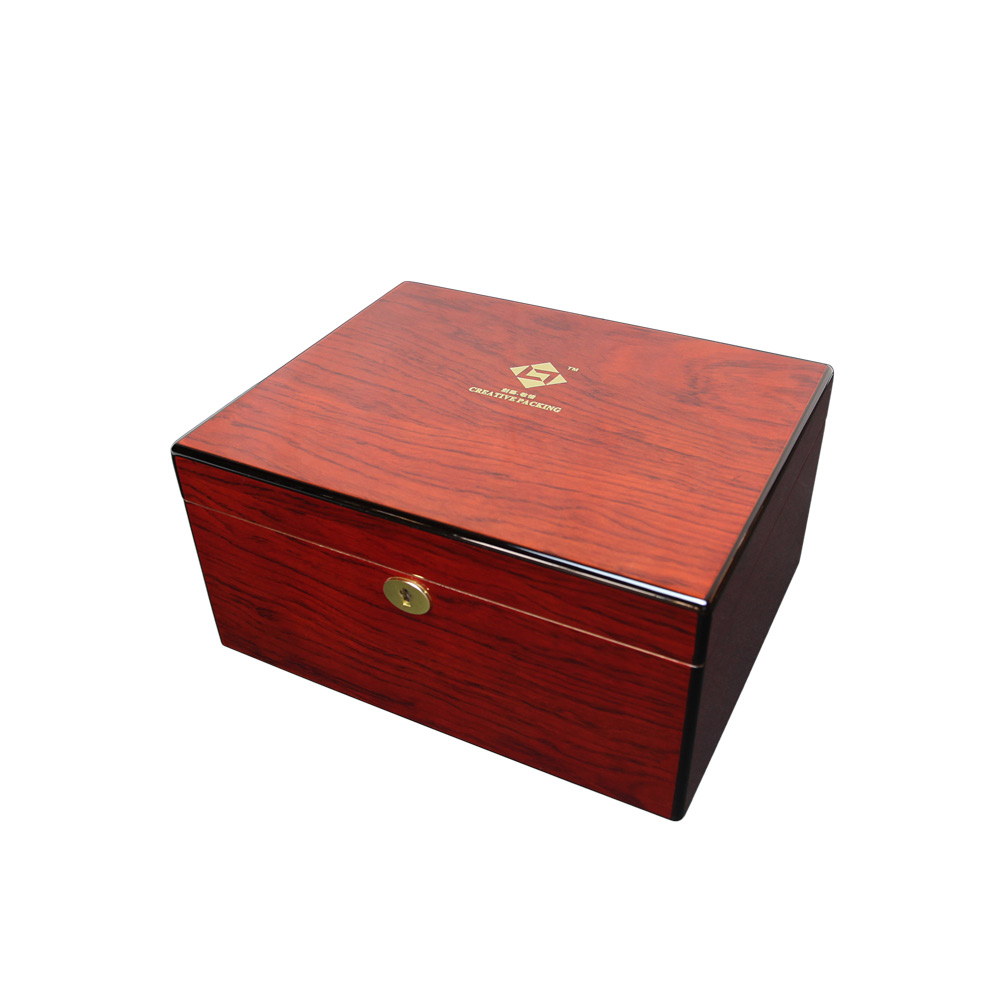 Hot Sale Wooden Cigarette Humidor, Making Wood Humidor, Locking Humidor