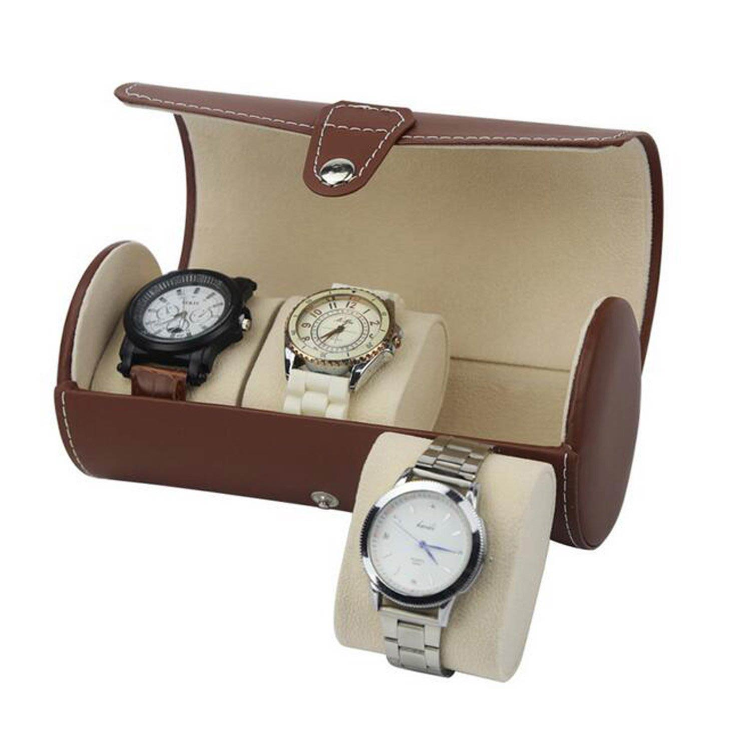 Professional custom high quality travel PU leather watch boxes