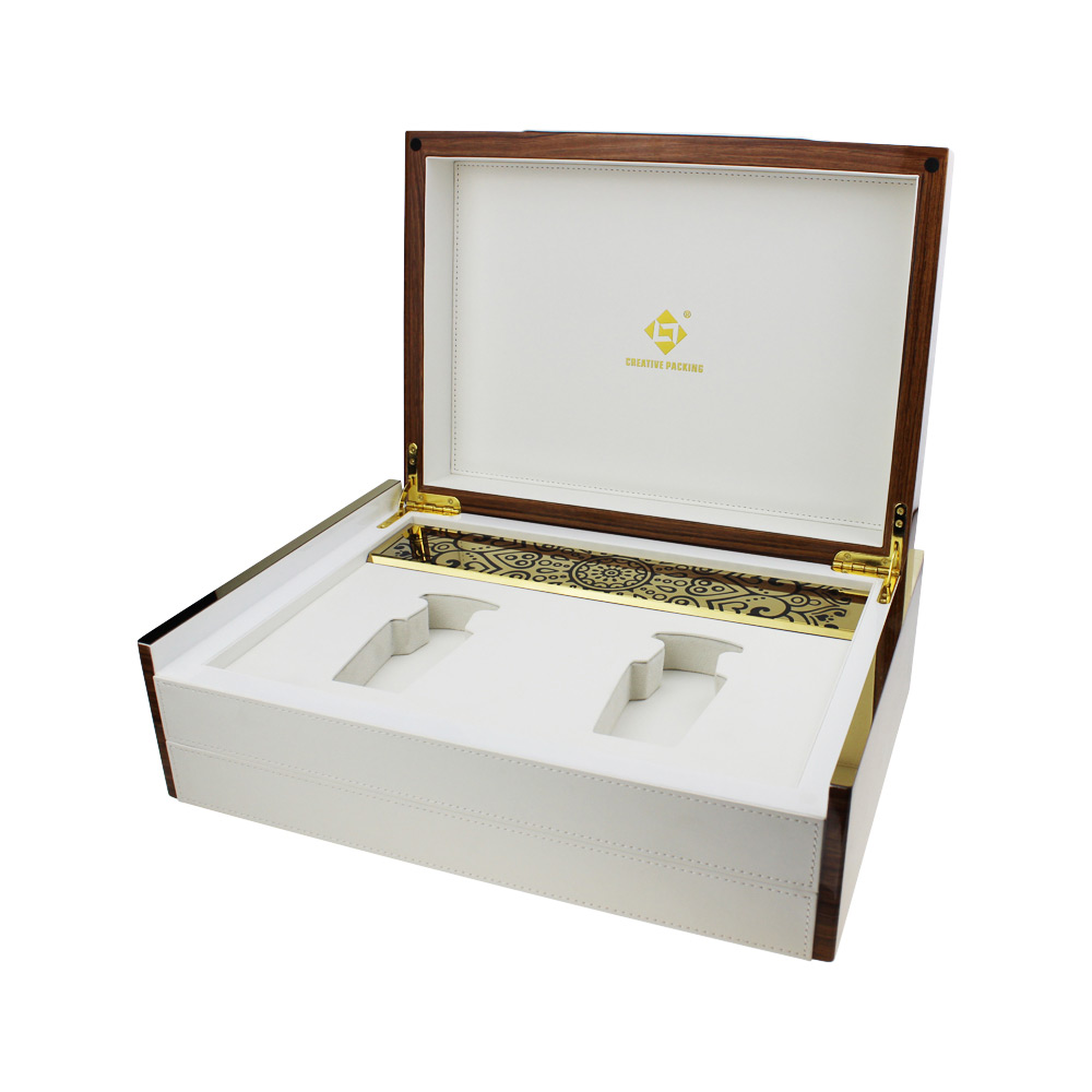 New Designs Oud Wooden Gloss Luxury 3d Perfume Boxes for 100ml bottles