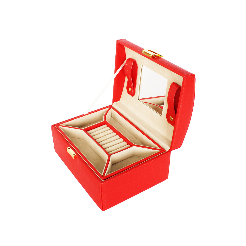 Red Jewelry Gift Boxes With Logo Custom Jewelry Boxes For Lady
