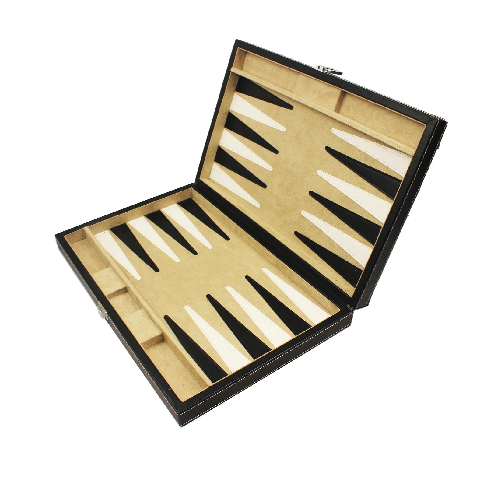 Luxury Handmade 15 / 21 Checkers Wooden Backgammon Set for Sale